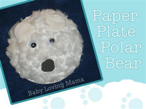 polar craft for paper plate polar craft