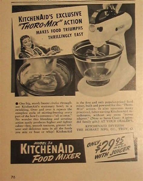 kitchen ads retro kitchen mixers