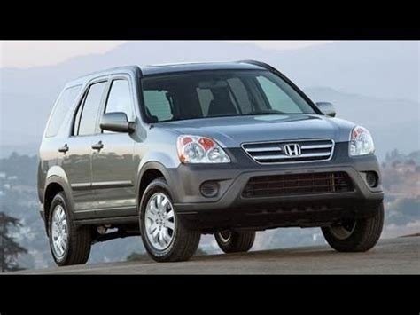 all car manuals free 2006 honda cr v windshield wipe control 2006 honda cr v start up and review 2 4 l 4 cylinder youtube