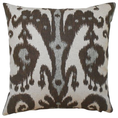 Grey And Brown Throw Pillows by Gray And Brown Ikat Decorative Pillow Cover Traditional