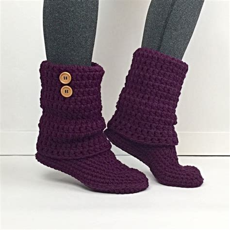 items similar to slouchy womens items similar to s crochet plum slouchy slipper