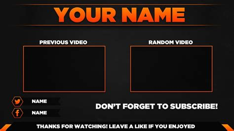 Scary Outro Card Template by Top 10 Free 2d Outro Templates
