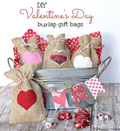 Handmade Valentines Day Gift - diy s day burlap gift bags