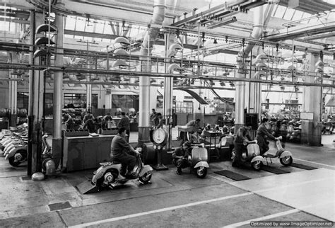 where is factory in italy vespa factory italy 1950 in a vespa mood