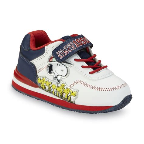 baby boy light up shoes peanuts by schulz toddler boy s snoopy white blue