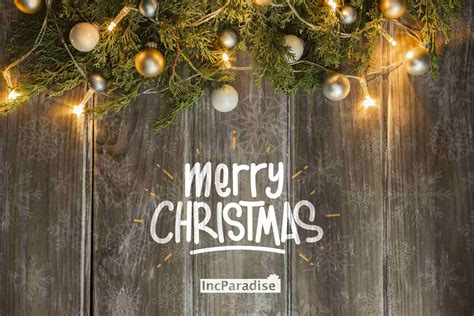 incparadise wishes  merry christmas happy holidays