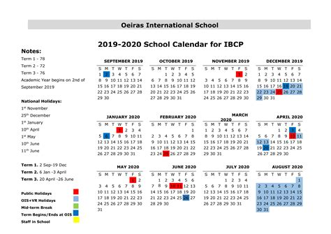 ois school calendar   oeiras international school