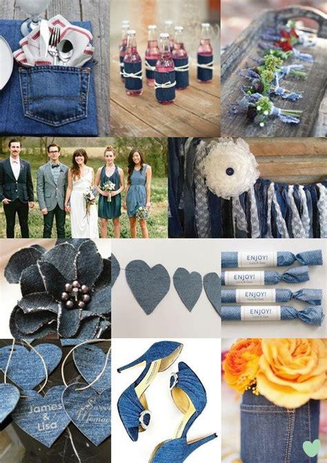 denim wedding styling moody monday  wedding