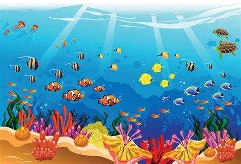 underwater scene  nemo wallpaper  kids room decor