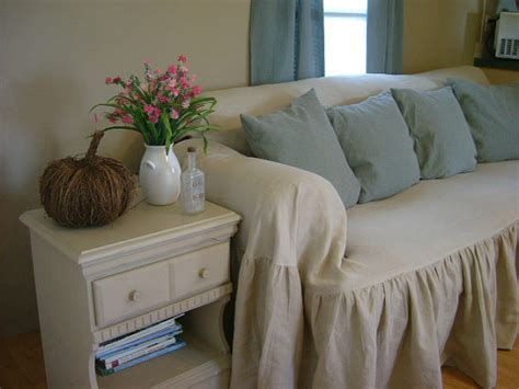 Shabby Chic Slipcovers Shabby Chic Sofa Slipcover Throw