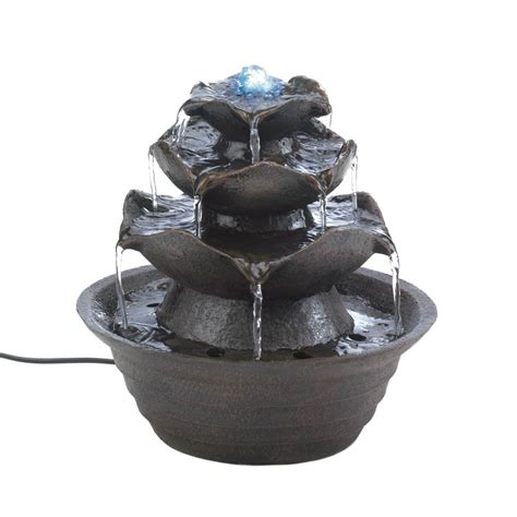 lotus tabletop water fountain sku 10016930 water