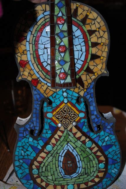 Mosaic Violin Pattern | pin by judy smith on stained glass pinterest