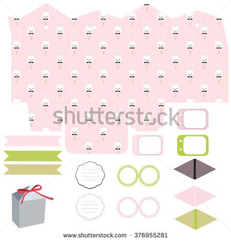 Baby Gift Set Paket Kontainer Lusty Bunny set gift box template empty stock vector 376955236