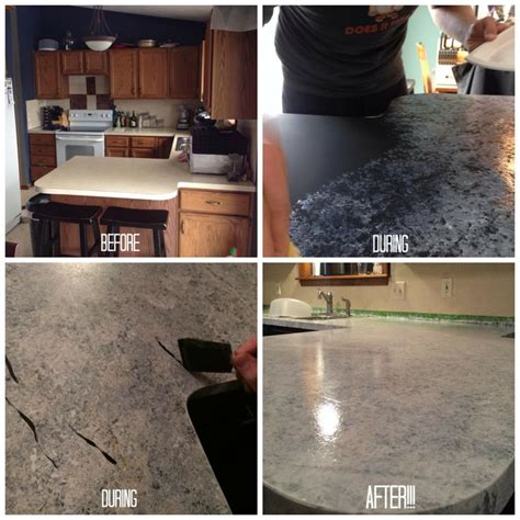 Countertop Paint Before And After by Giani Granite Countertop Paint Process Before And After