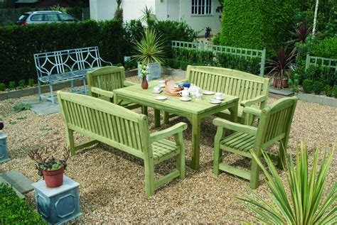 garden bench and table set what s the best garden furniture for your garden size