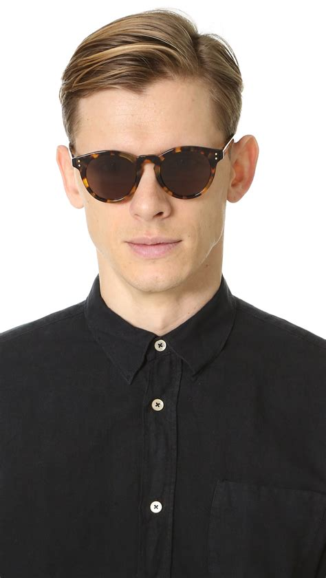 Marc Black lyst marc by marc sunglasses in black for