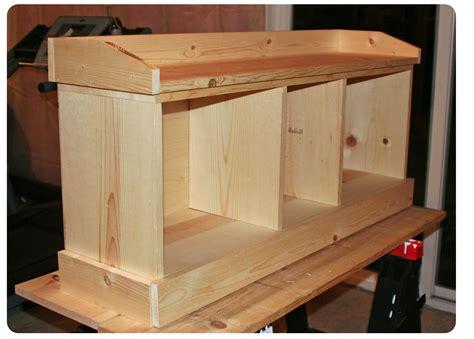 build  entryway storage bench entryway