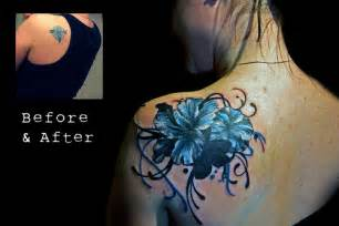 Flower cover up tattoo find me a tattoo