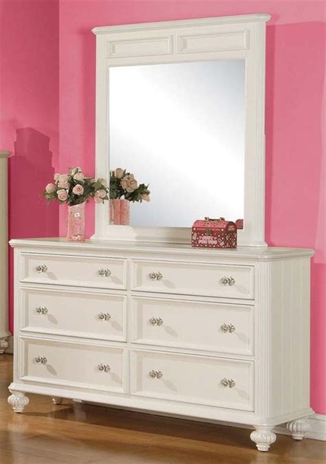white bedroom dresser with mirror acme furniture athena white 6 drawer dresser and mirror