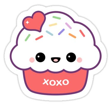 Cloud Stickers For Walls quot cute love cupcake quot stickers by sugarhai redbubble