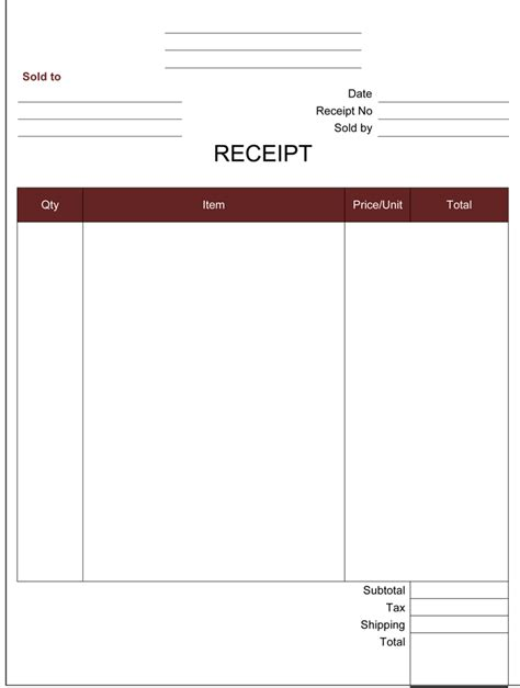 21 Free Cash Receipt Templates For Word Excel And Pdf Receipt Template