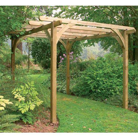 11 8 quot x 11 8 quot ft 3 6 x 3 6m 4 post wooden garden pergola