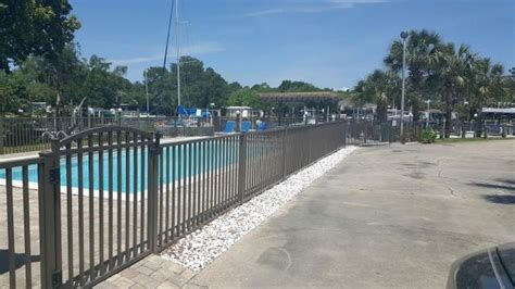 pool fence installation wood fence installation gulf fence construction co