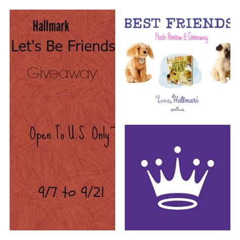 Friends Giveaway - hallmark let s be friends prize pack giveaway us only