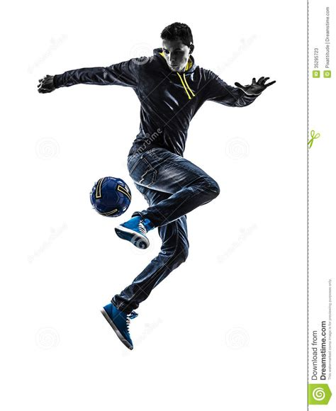 Kitchen Design Sketch young man soccer freestyler player silhouette stock photos