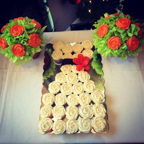 cupcake arrangements for bridal shower cupcake dress and bouquets for a bridal shower cakecentral