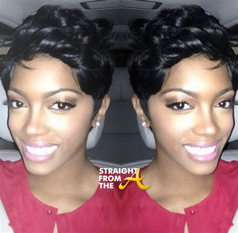 what type of hair does porsha stewart wear porsha stewart short hair