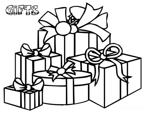 coloring page of christmas presents christmas gifts coloring pages for child kids coloring pages