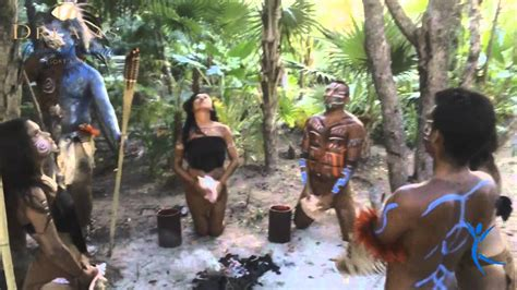mayan rituals at dreams riviera cancun youtube