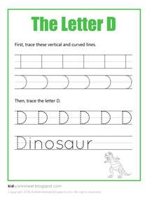 free worksheet tracing letter d worksheets for kids
