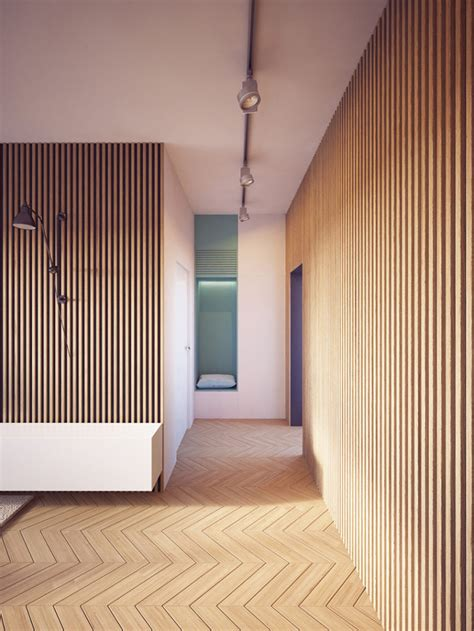 modern wood paneling modern apartment with two zones and amazing wood paneling