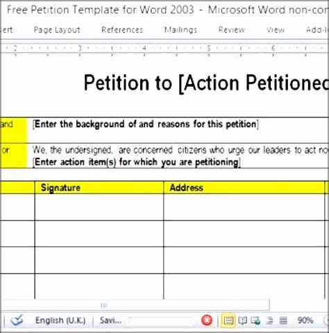 11 Petition Template In Word Sletemplatess Sletemplatess Petition Exle Template