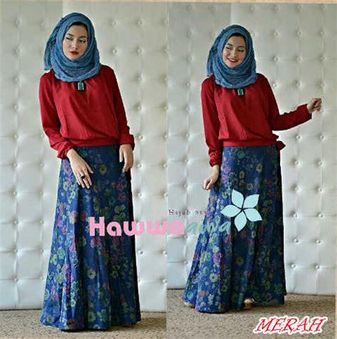 Setelan Muslim Nativa Set By Bungas zara merah baju muslim gamis modern