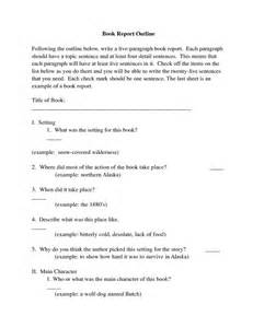 Book Report Essays by College Book Report Template Book Report Outline Following The Outline Below Write A My