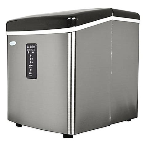 bed bath and beyond ice maker buy newair 28 lb stainless steel portable ice maker from