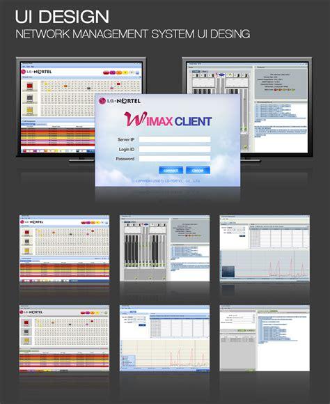 ui layout west lg nortel w max client network management system ui design