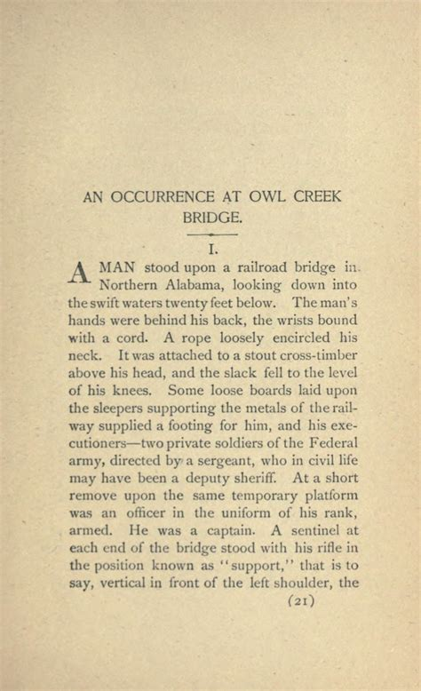 An Occurrence At Owl Creek Bridge Essay by Symbolism In An Occurrence At Owl Creek Bridge Essay