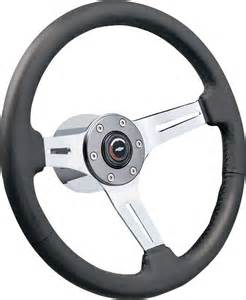 Aftermarket Steering Wheels 1969 81 Black Leather Brushed Spokes Steering Wheel Kit