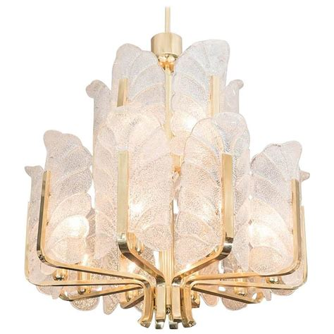 Acanthus Leaf Chandelier Carl Fagerlund Orrefors Acanthus Leaf Chandelier For Sale At 1stdibs