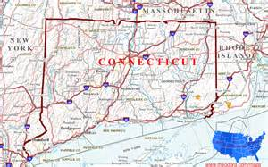 ct in us map connecticut maps