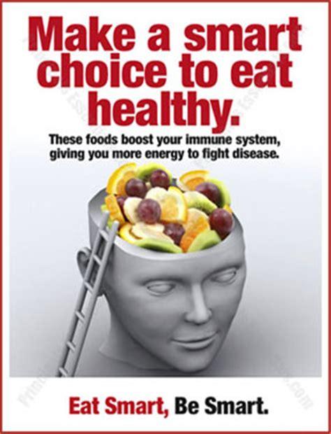 make a smart choice to eat healthy.