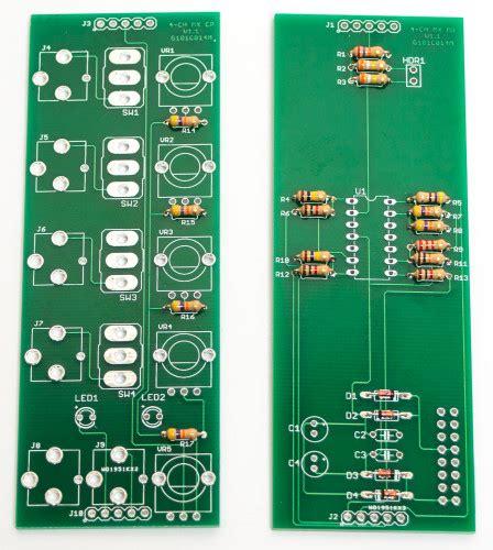resistors for audio mst 4 channel audio cv mixer synthrotek