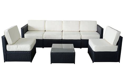 wicker sectional sofa indoor amazon com mcombo 6085 s1007 7 wicker patio