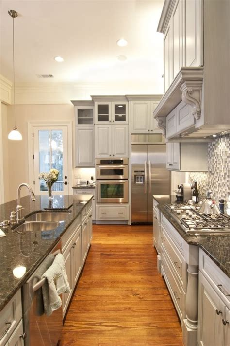 island for galley kitchen a girl can dream can t she i love this color by mimisusie kitchens pinterest