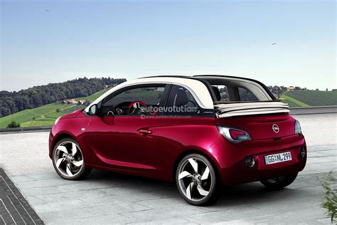 the s opel adam convertible rendering released autoevolution