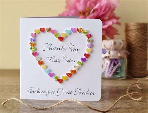 cards to make for teachers thank you card thank you for being a great